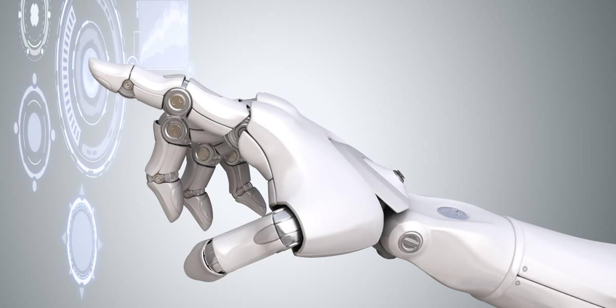 Render della mano di un robot - Elettronica 2020