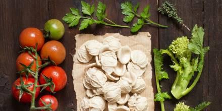 Peccati di Gola a Noci - Orecchiette fresche, prezzemolo, pomodorini e rape